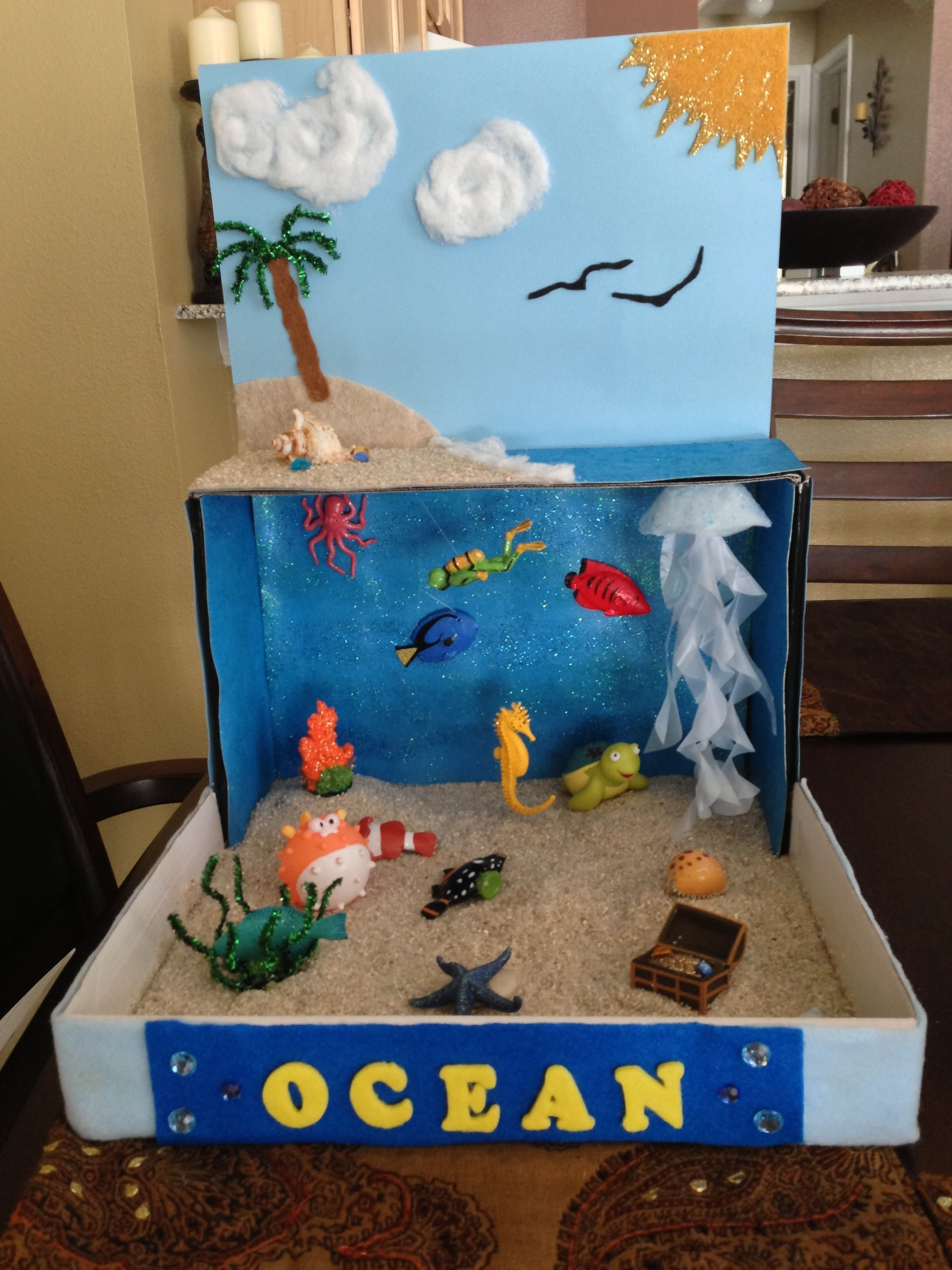 10 Pretty How To Ideas For A Project ocean diorama for school project idea for henry 2nd grade project