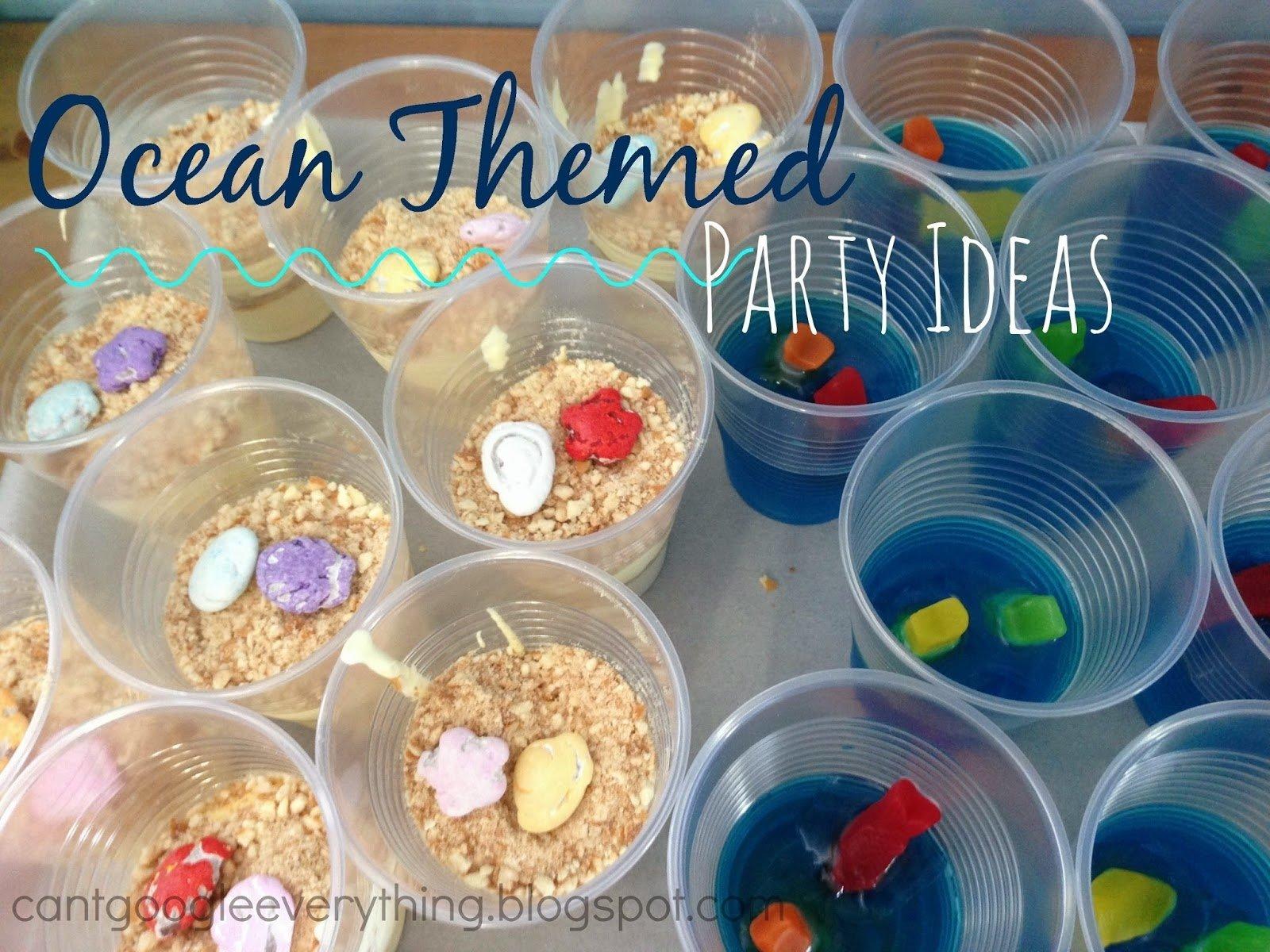 imágenes de beach themed birthday food ideas