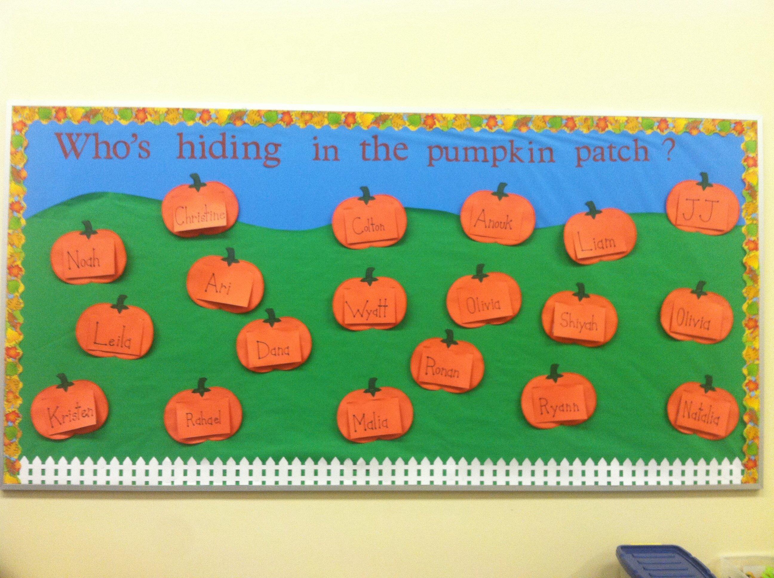 10 Great Pumpkin Patch Bulletin Board Ideas october bulletin board whos hiding in the pumpkin patch 2021
