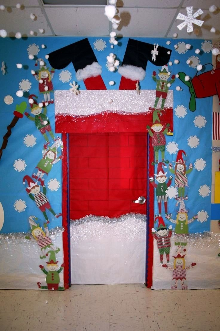 10 Wonderful Christmas Door Ideas For School office door decorating ideas with christmas picture for bathroom