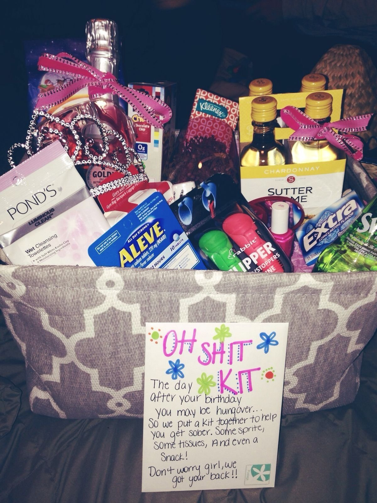 10 Lovable Cute Birthday Gift Ideas For Girlfriend oh shit kit cute idea only 2 more years till k can legally drink 7 2021