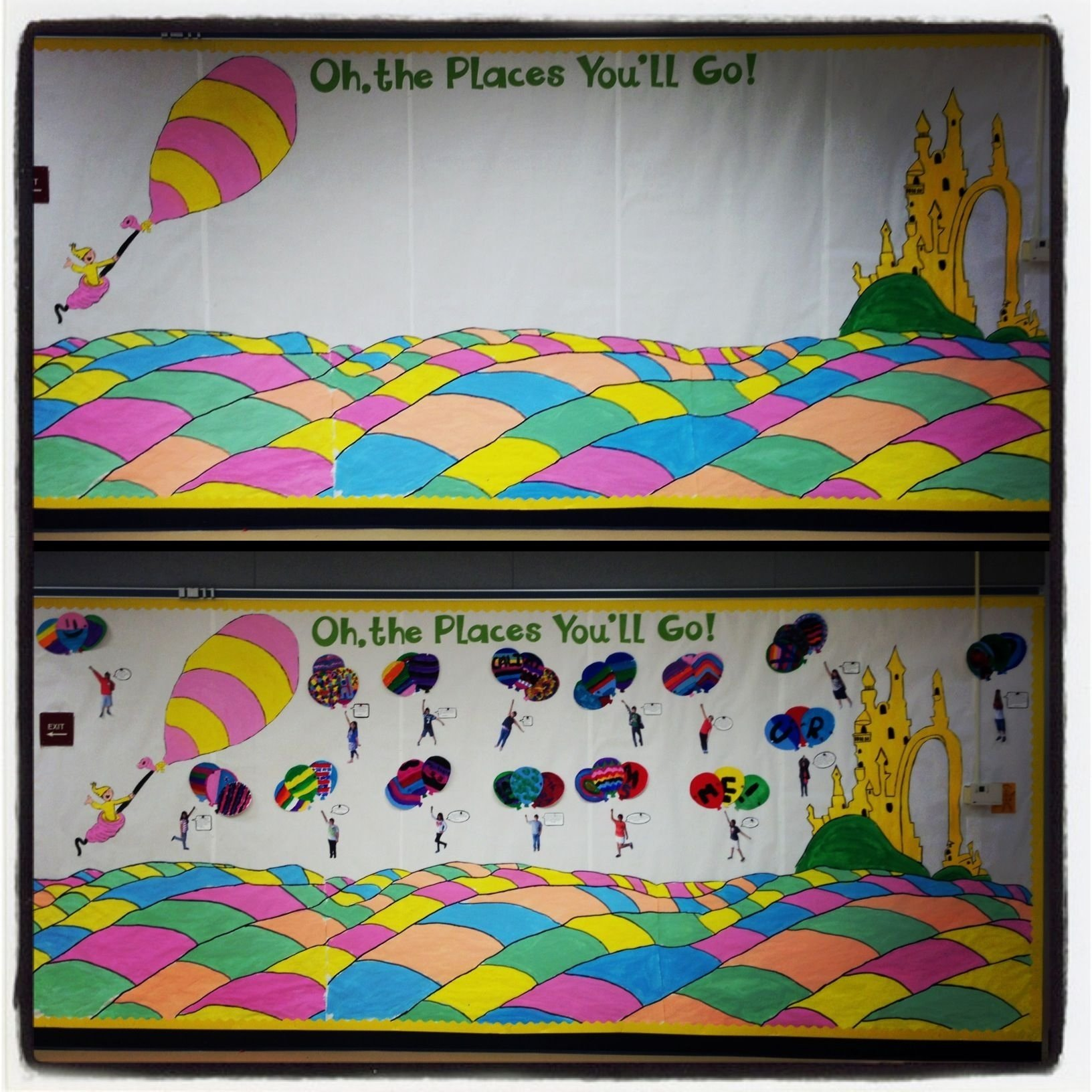 oh, the places you'll go bulletin board | bulletin boards