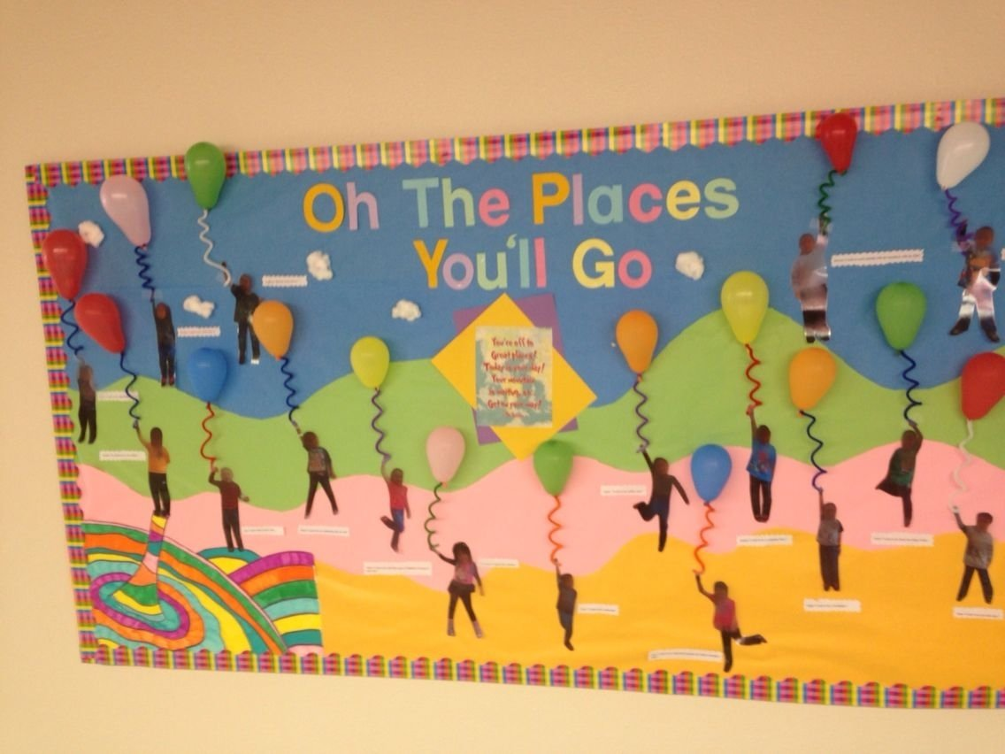 10 Lovable Oh The Places You Ll Go Bulletin Board Ideas oh the places youll go dr seuss bulliten board for read across