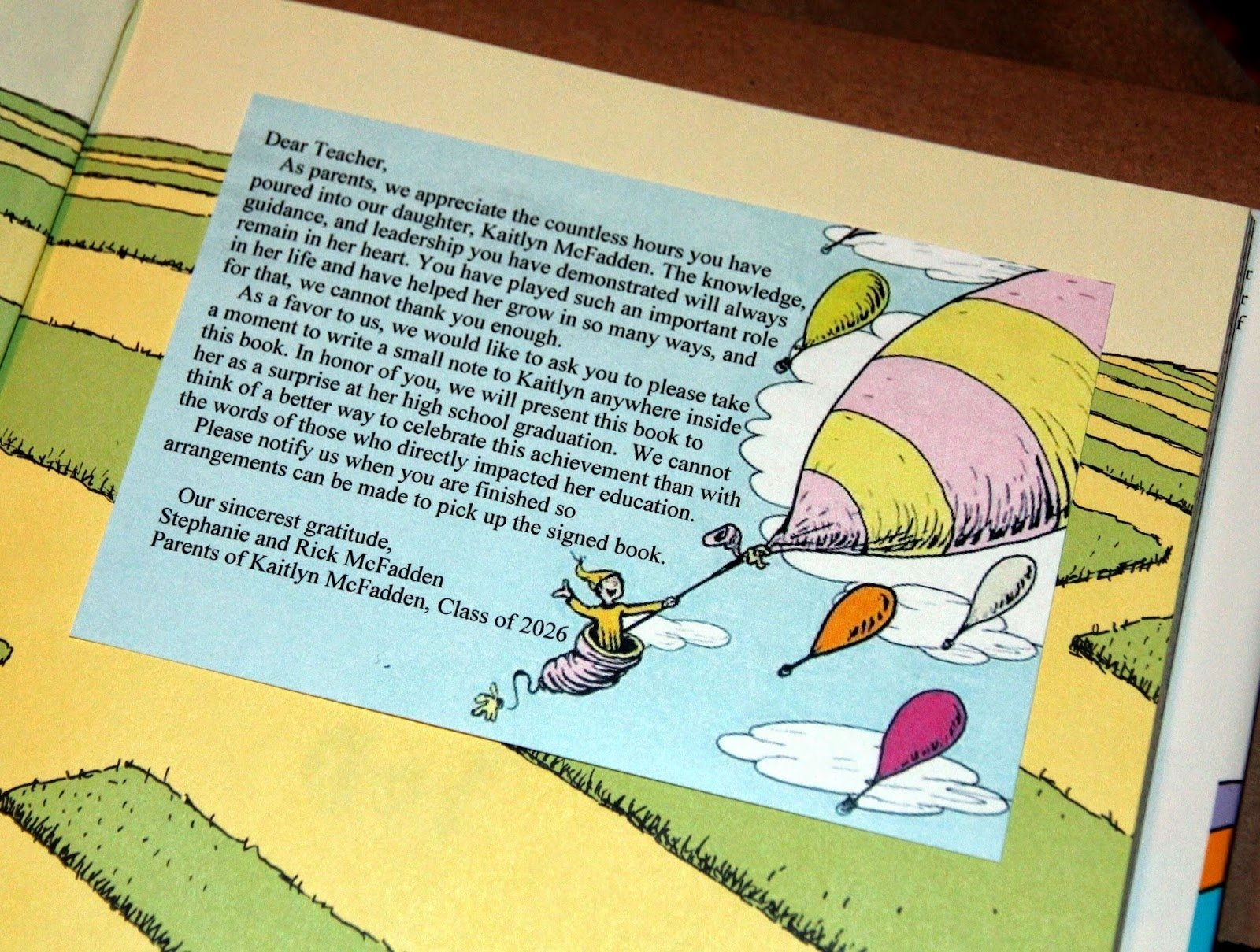 10 Wonderful Oh The Places You Ll Go Gift Ideas oh the places youll go graduation gift note to the teachers to 2020