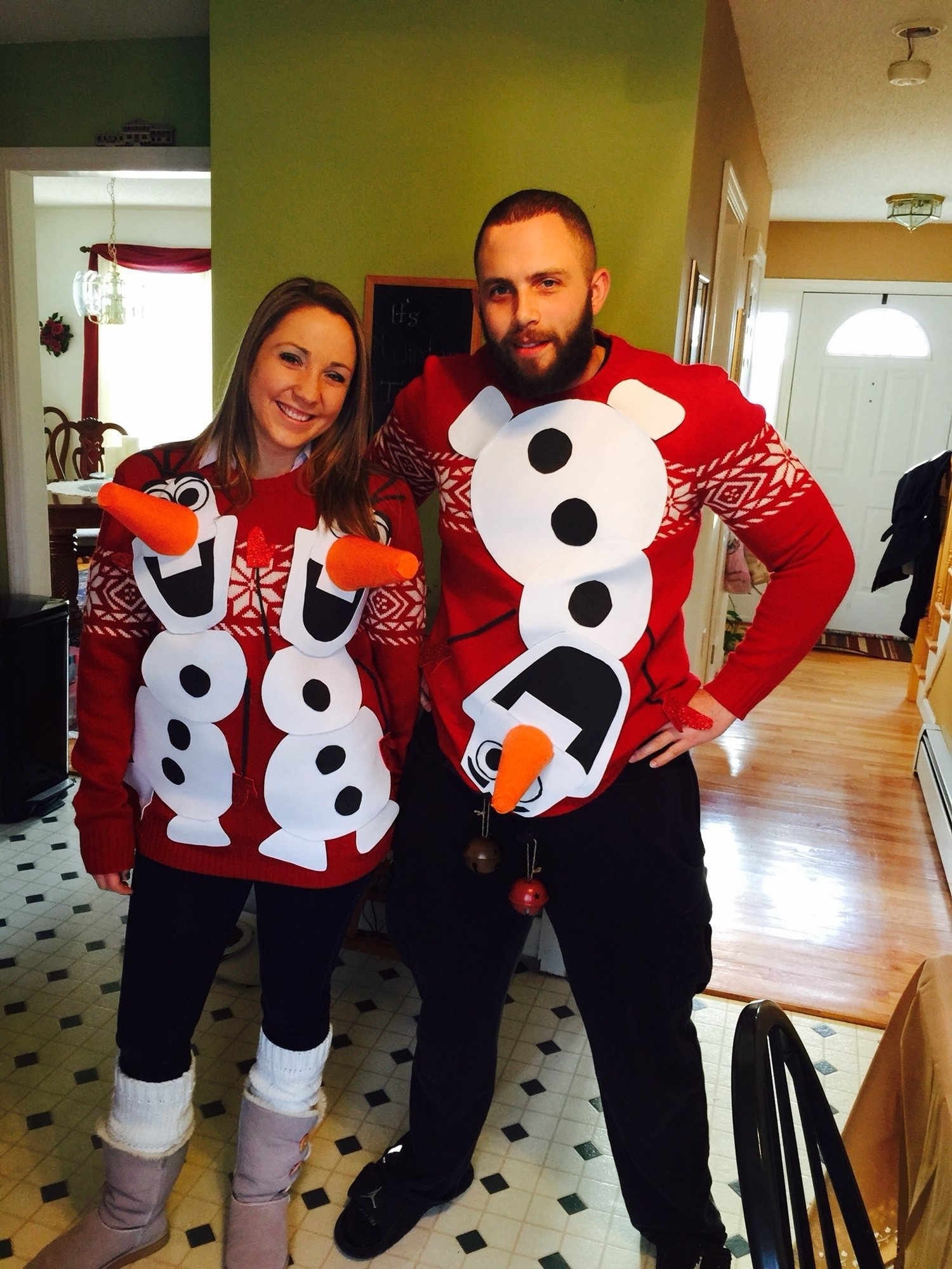 10 Awesome Ugly Christmas Sweater Ideas For Couples olaf ugly sweater olaf couples ugly sweater pinterest olaf 1 2020