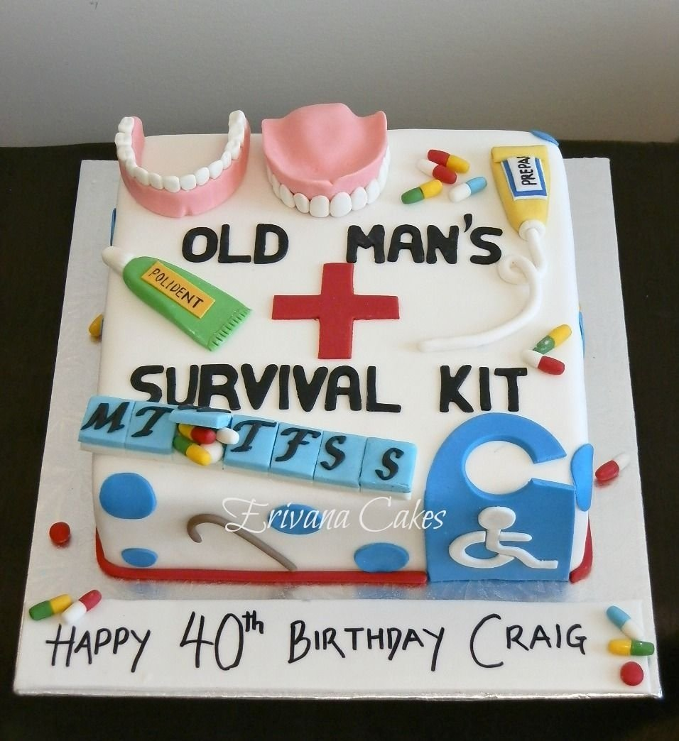 10 Pretty 50Th Birthday Cake Ideas For Men Old Age Survival Kit Cakes And Cupcakes