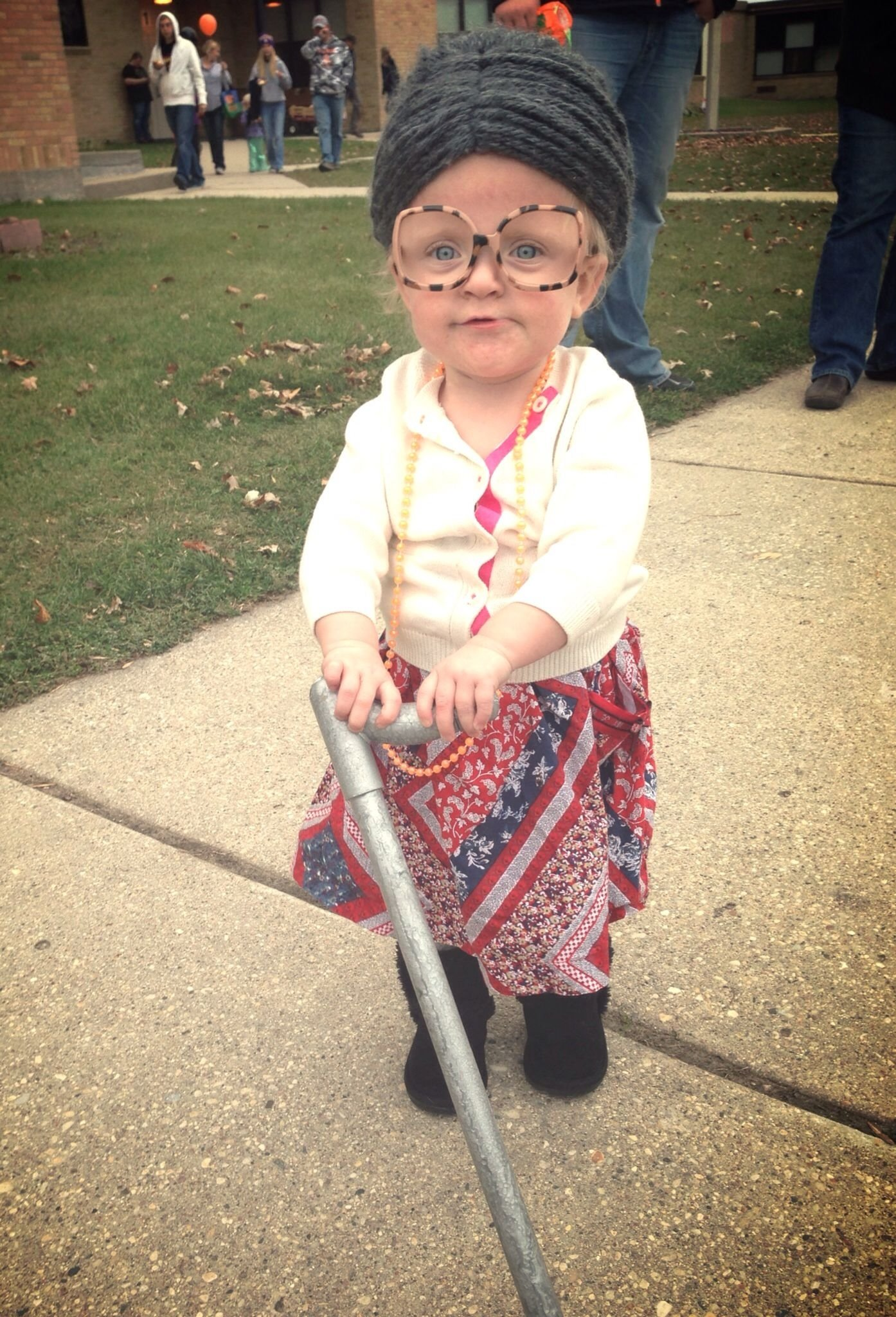 10 Most Popular Homemade Toddler Halloween Costume Ideas old lady easy diy toddler halloween costume for nora pinterest 2021