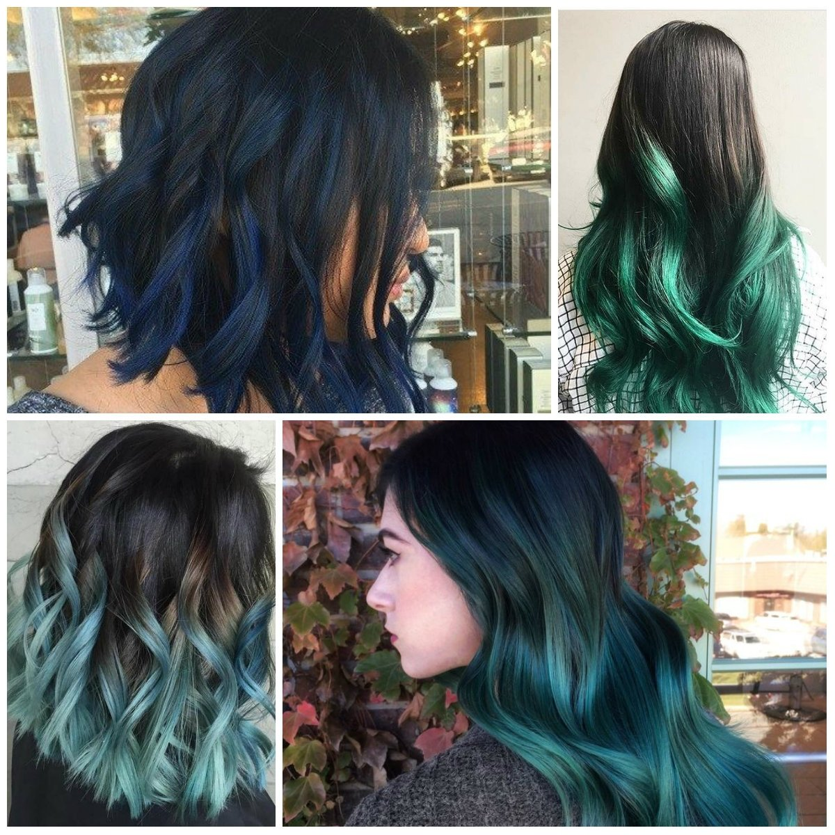 10 Awesome Hair Dye Ideas For Black Hair ombre best hair color ideas trends in 2017 2018 2021