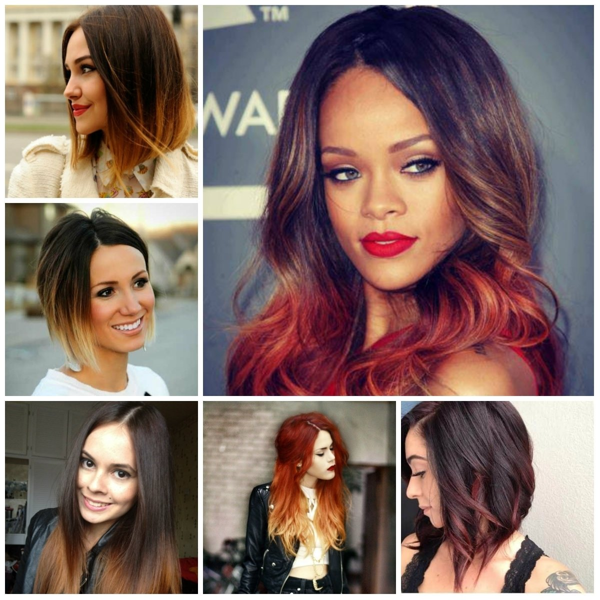 10 Great Hair Color Ideas For Dark Skin Tones ombre hair color pictures women medium haircut