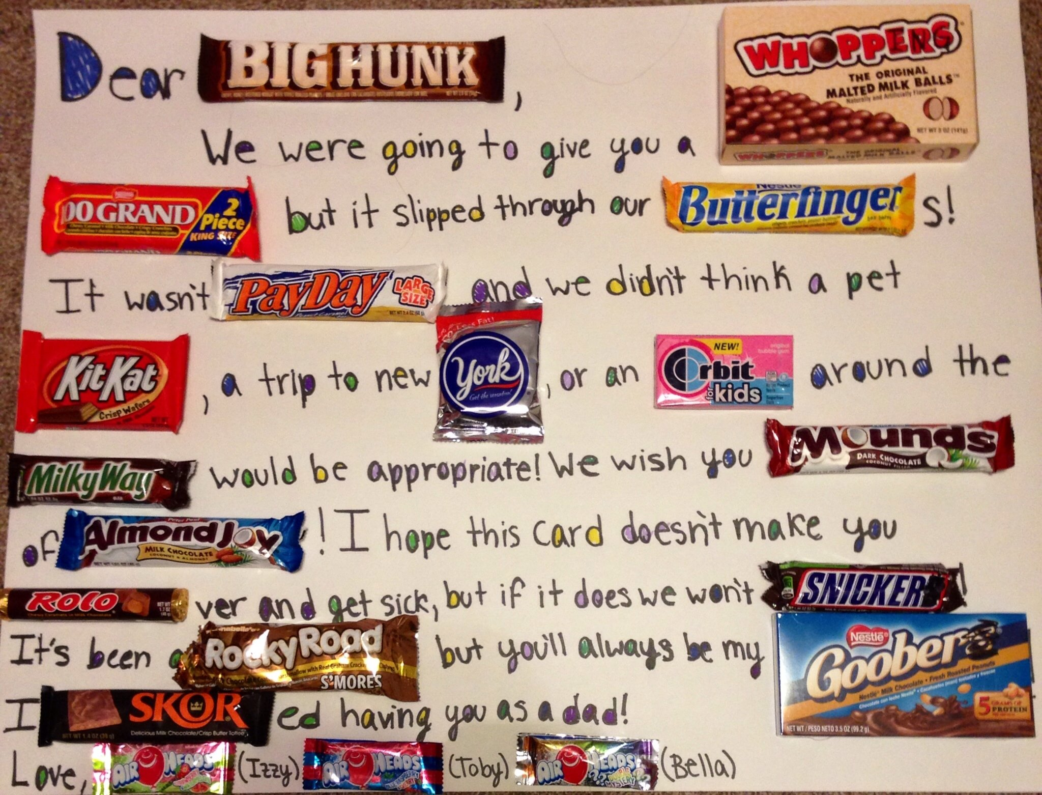 10 Stylish Great Gift Ideas For Dad omg i am making this gift ideas pinterest card candy gift 1 2020