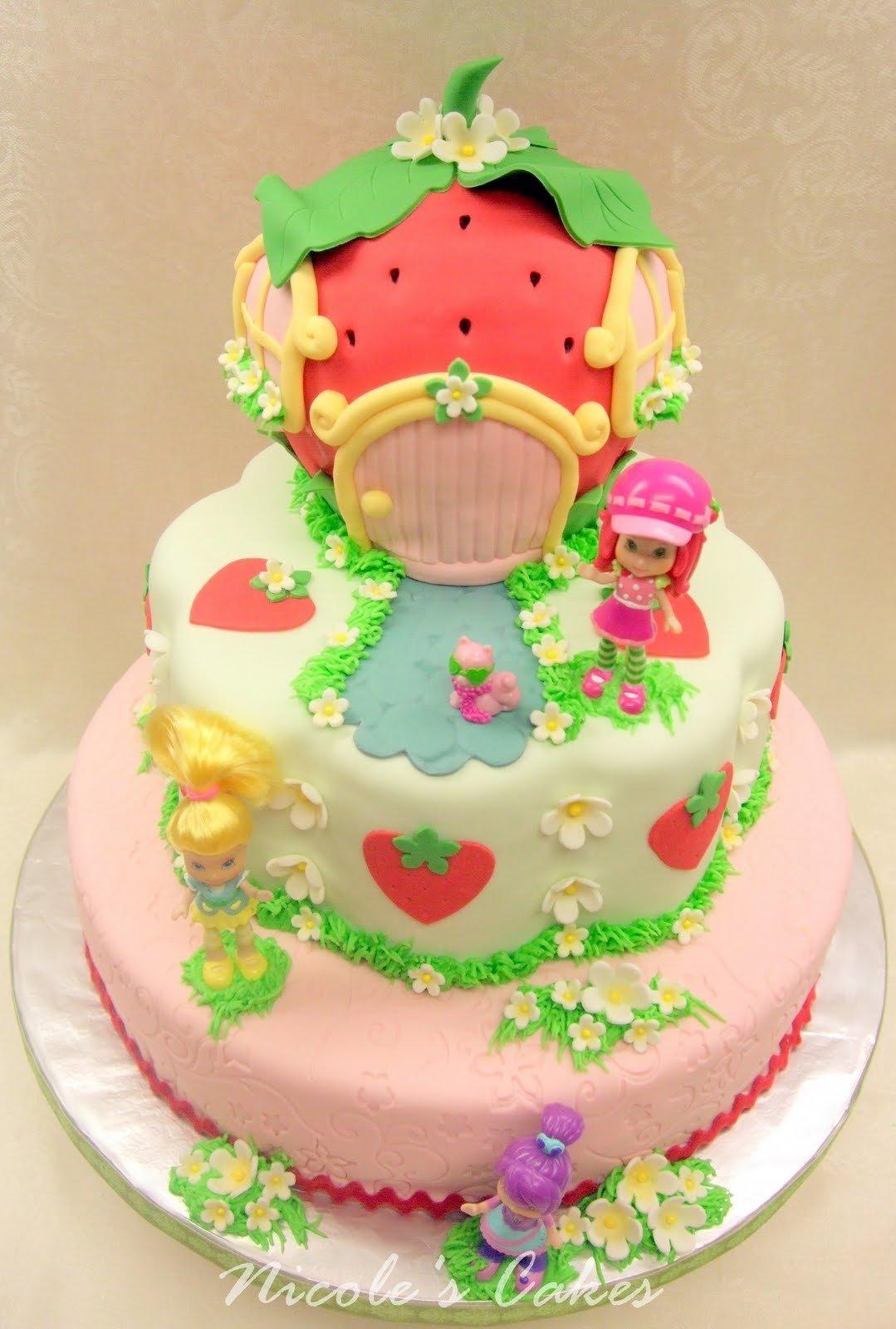 10 Attractive Strawberry Shortcake Birthday Cake Ideas on birthday cakes a berry beautiful strawberry shortcake birthday cake 2020