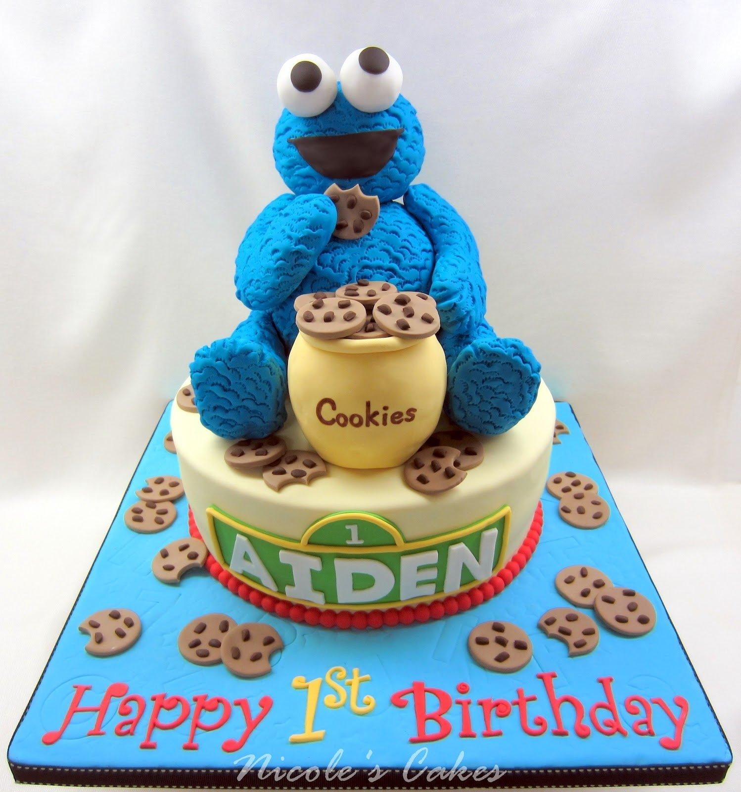 10 Unique First Birthday Cake Ideas Boy on birthday cakes the cookie monster a 1st birthday cake 2021