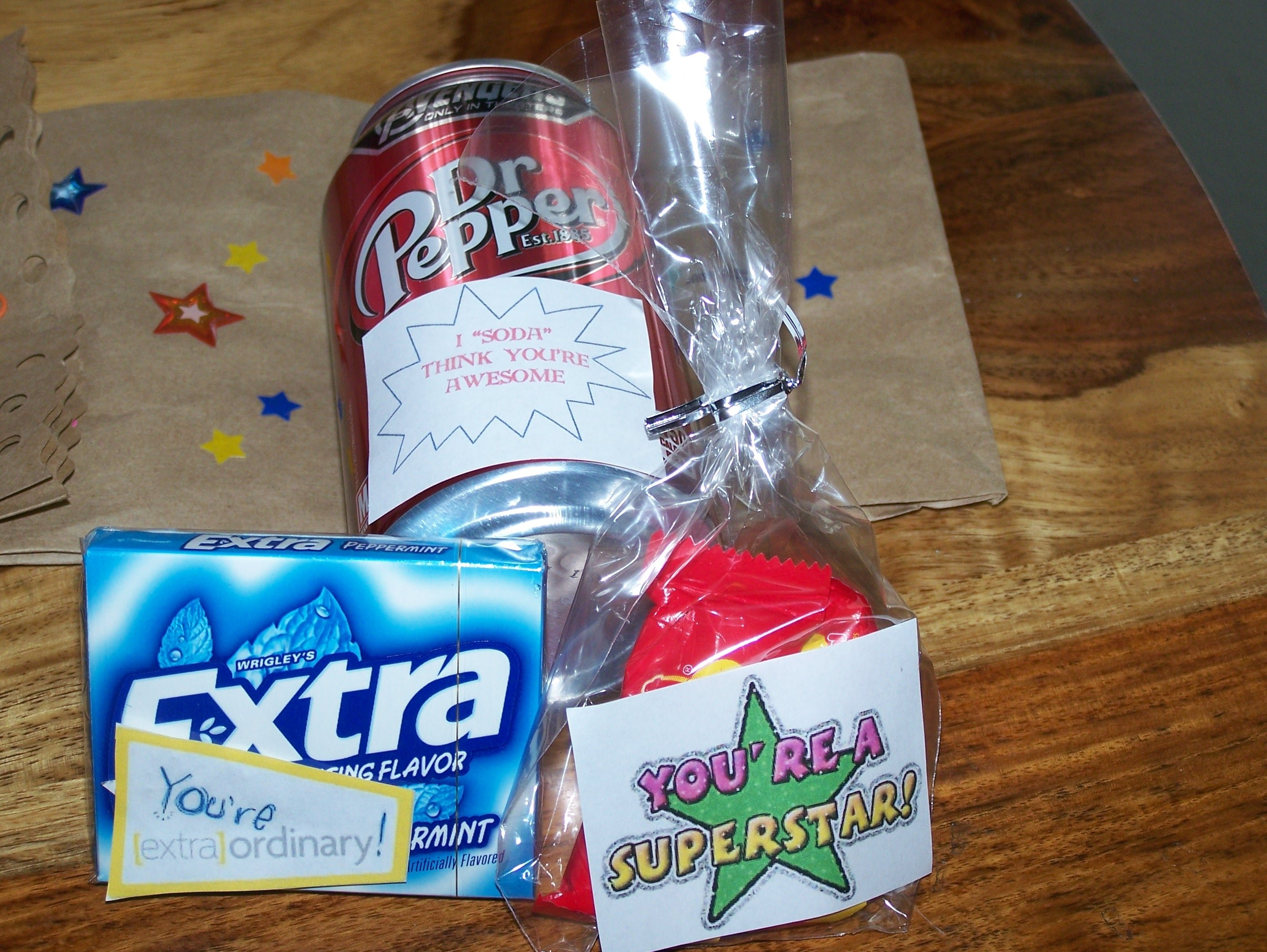 10 Perfect Customer Service Appreciation Week Ideas on the inside i put soda extra gum and starburst all 2020