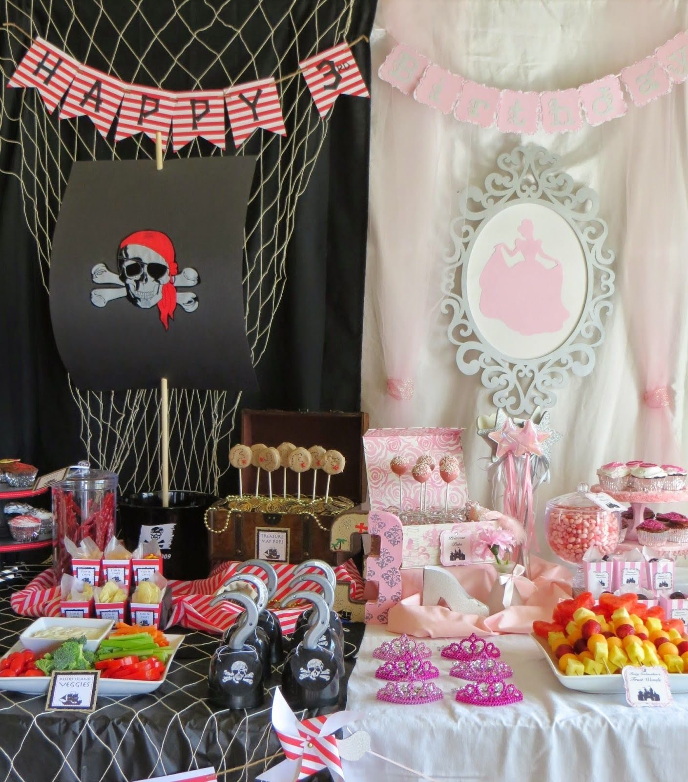 10 Awesome Princess And Pirate Party Ideas once upon a time and a yo ho ho princess and pirate birthday party 2020