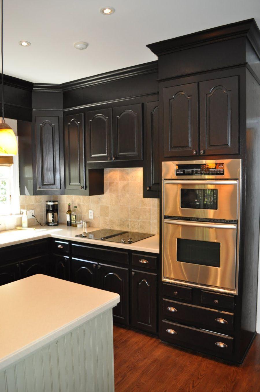10 Unique Crown Molding Ideas For Kitchen one color fits most black kitchen cabinets dod1955msn 2021