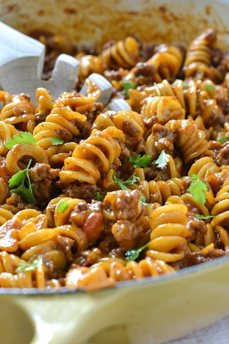 10 Stylish Quick Dinner Ideas With Ground Beef one pot cheesy taco pasta recipe ground beef pasta and cheese 2020