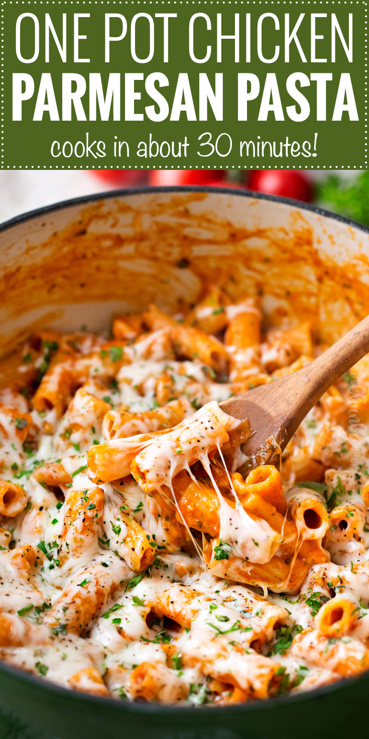 10 Elegant Simple Dinner Ideas For 1 one pot chicken parmesan pasta the chunky chef