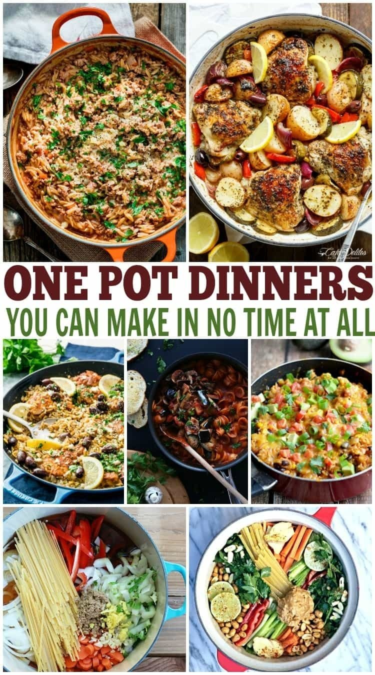 10 Pretty Quick Dinner Ideas For 1 one pot dinner recipes over 20 one pot meals for dinner 2021