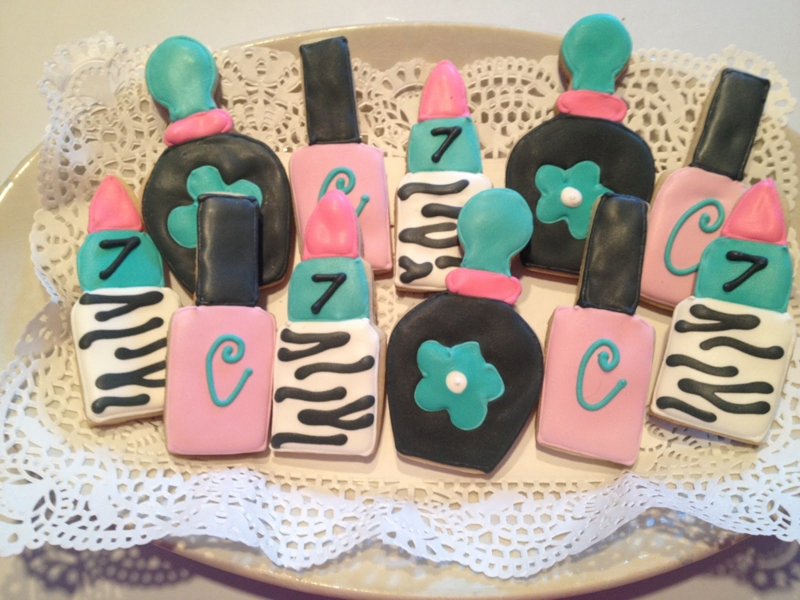 10 Nice 13 Year Old Birthday Party Ideas For Girls one preppy cookie spa birthday party cookies 2 2021