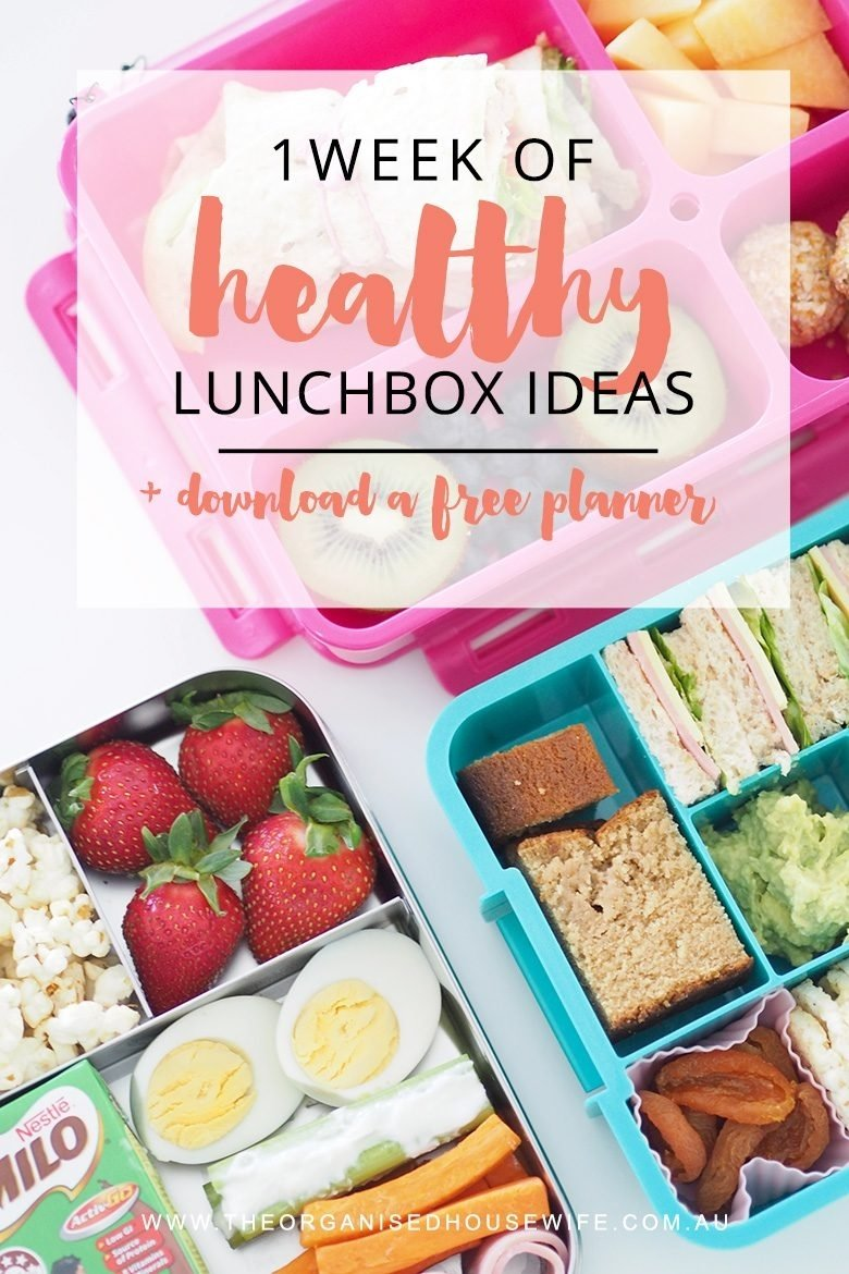 one week of lunchbox ideas for kids - the organised housewife
