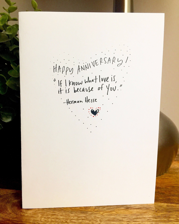 one year anniversary card for her, paper anniversary, anniversary