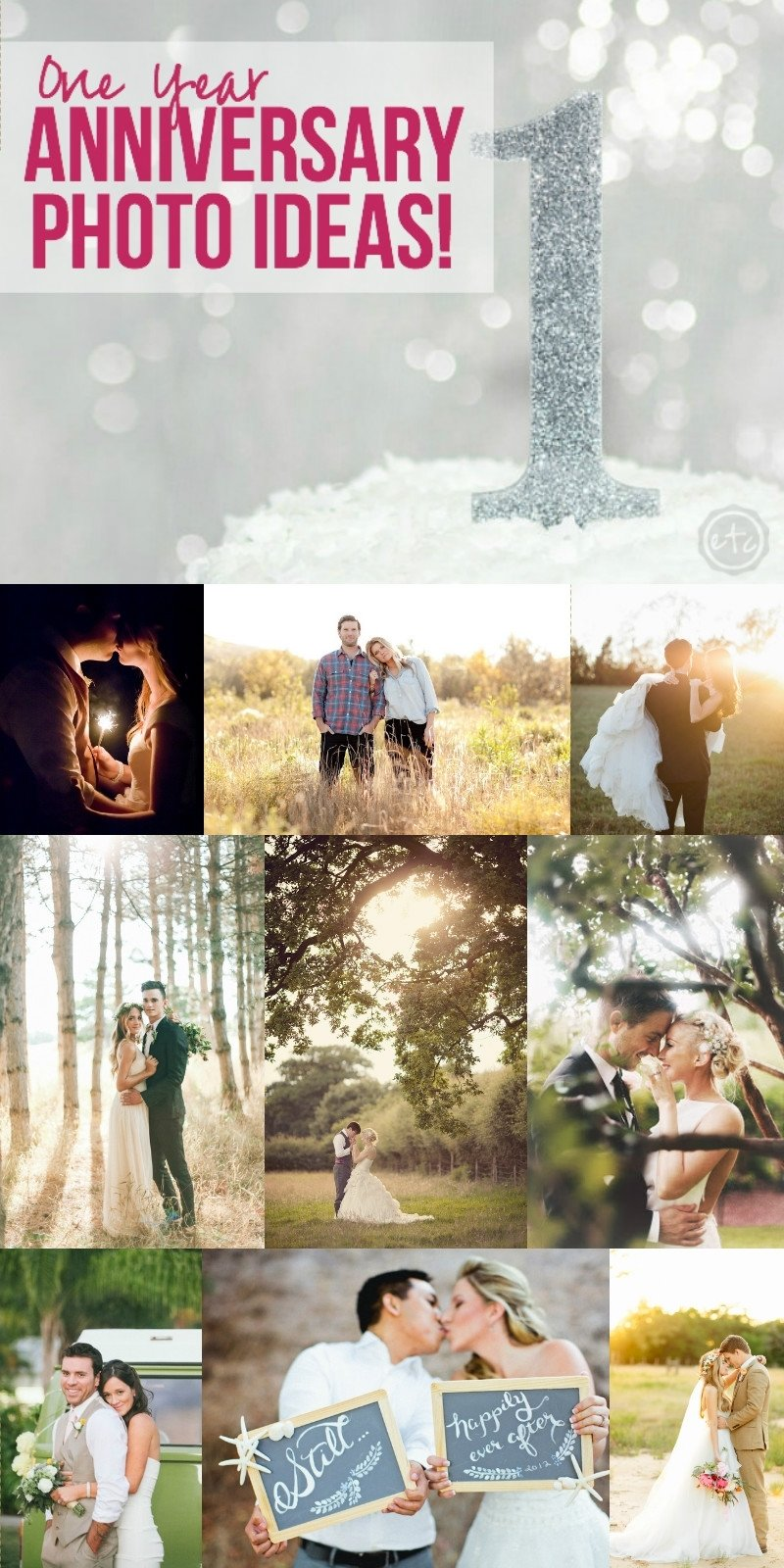 10 Great Ideas For 1 Year Anniversary one year anniversary photo ideas happily ever after etc 2020