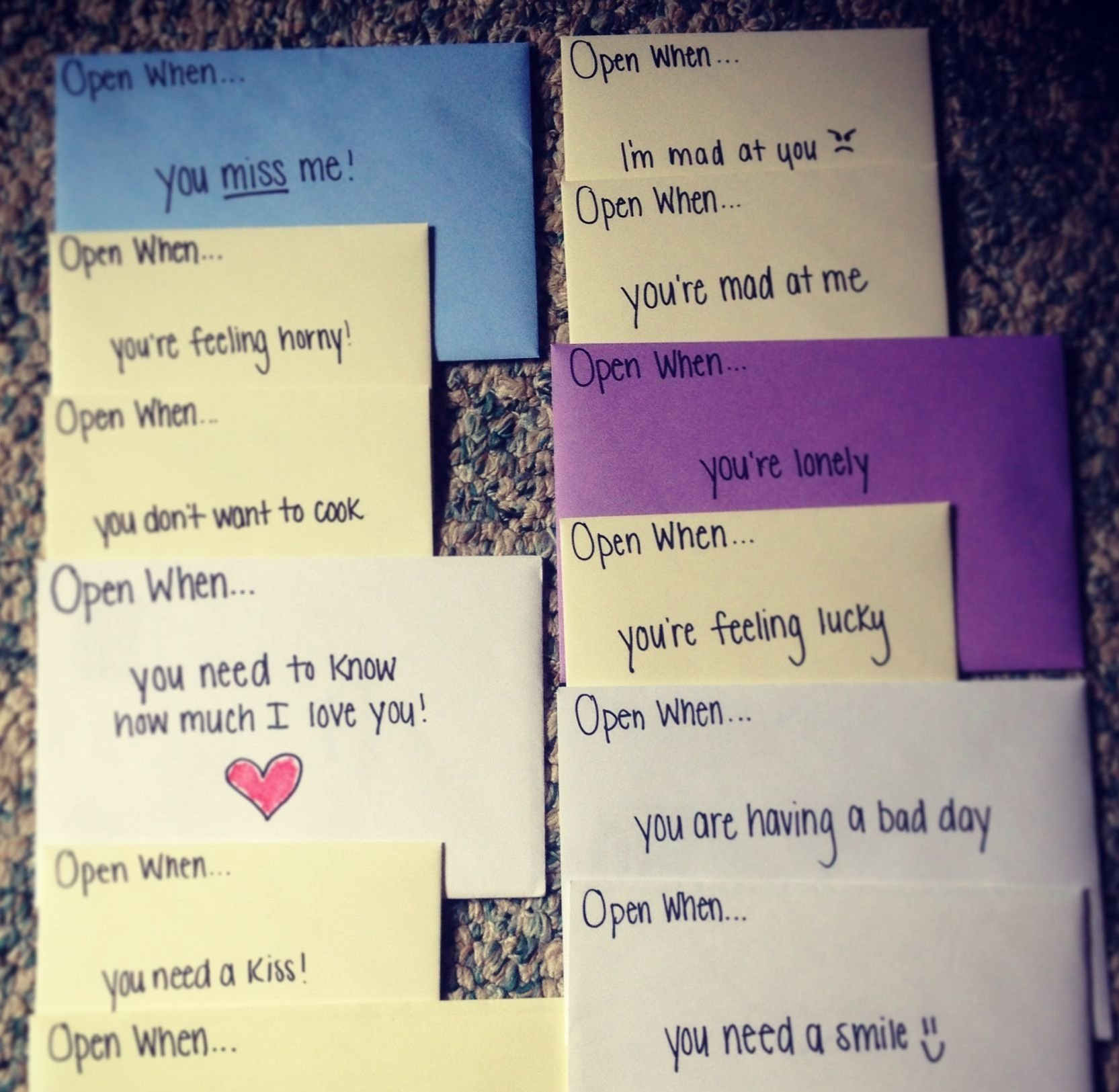 10 Lovely Cute Note Ideas For Boyfriend open when cards such a cute idea for a birthday wedding