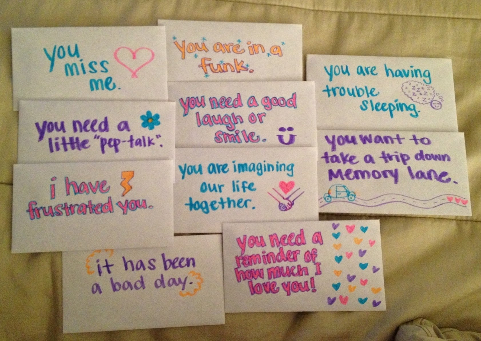 10 Lovely Cute Note Ideas For Boyfriend open when letters for boyfriend ideas fishingstudio