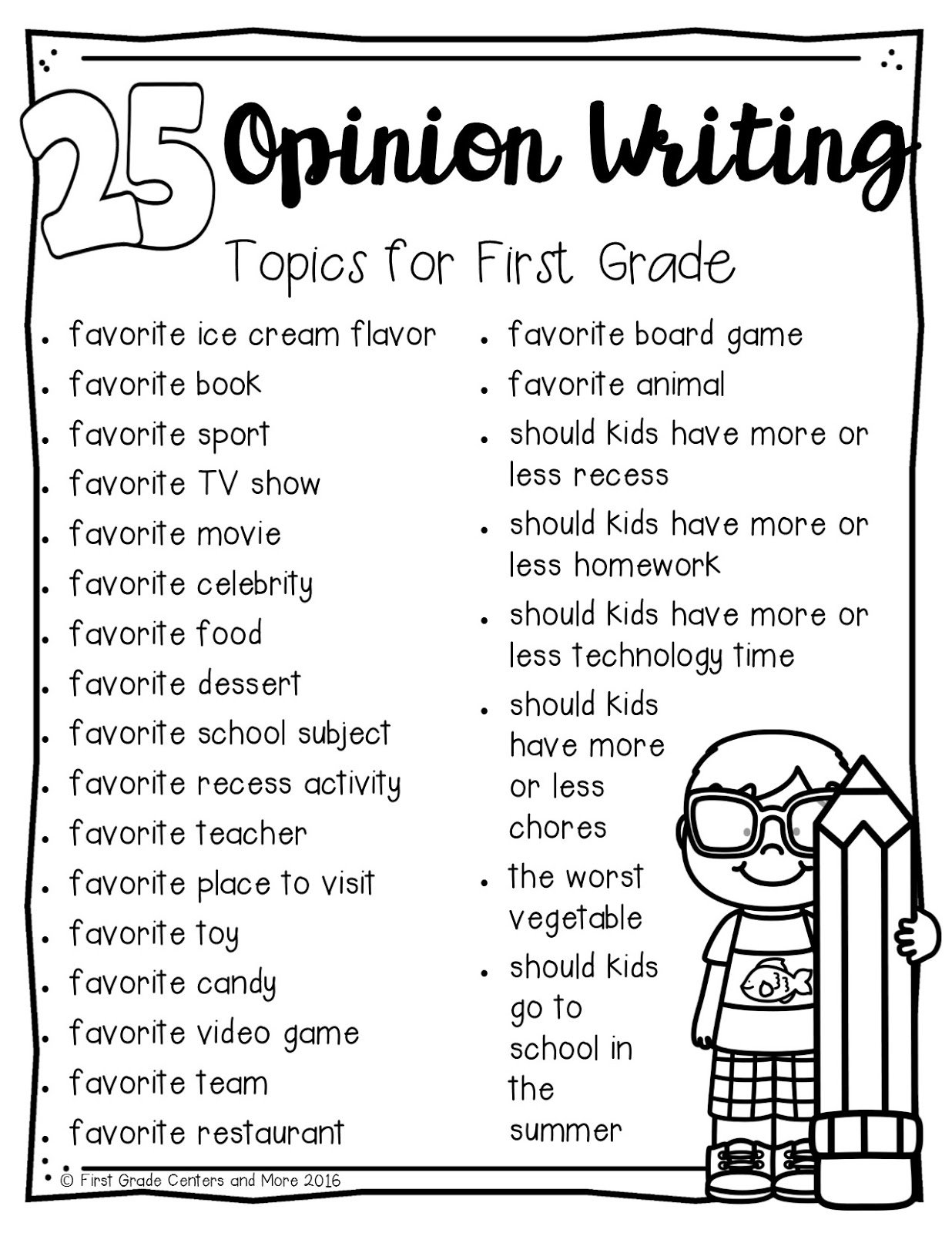 10 Spectacular Writing Ideas For First Grade opinion writing first grade centers and more 2020