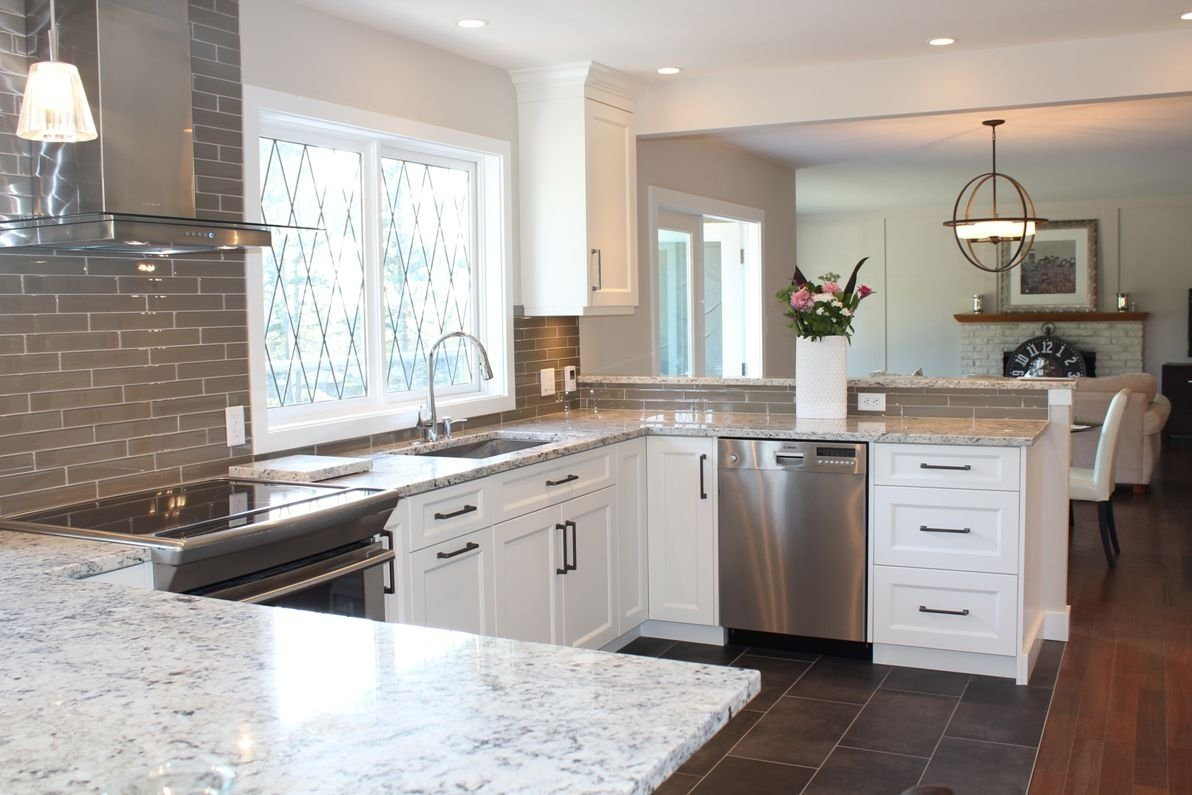 10 Spectacular Kitchen Countertop Ideas With White Cabinets opportunities white cabinets grey countertops kitchen countertop 2020