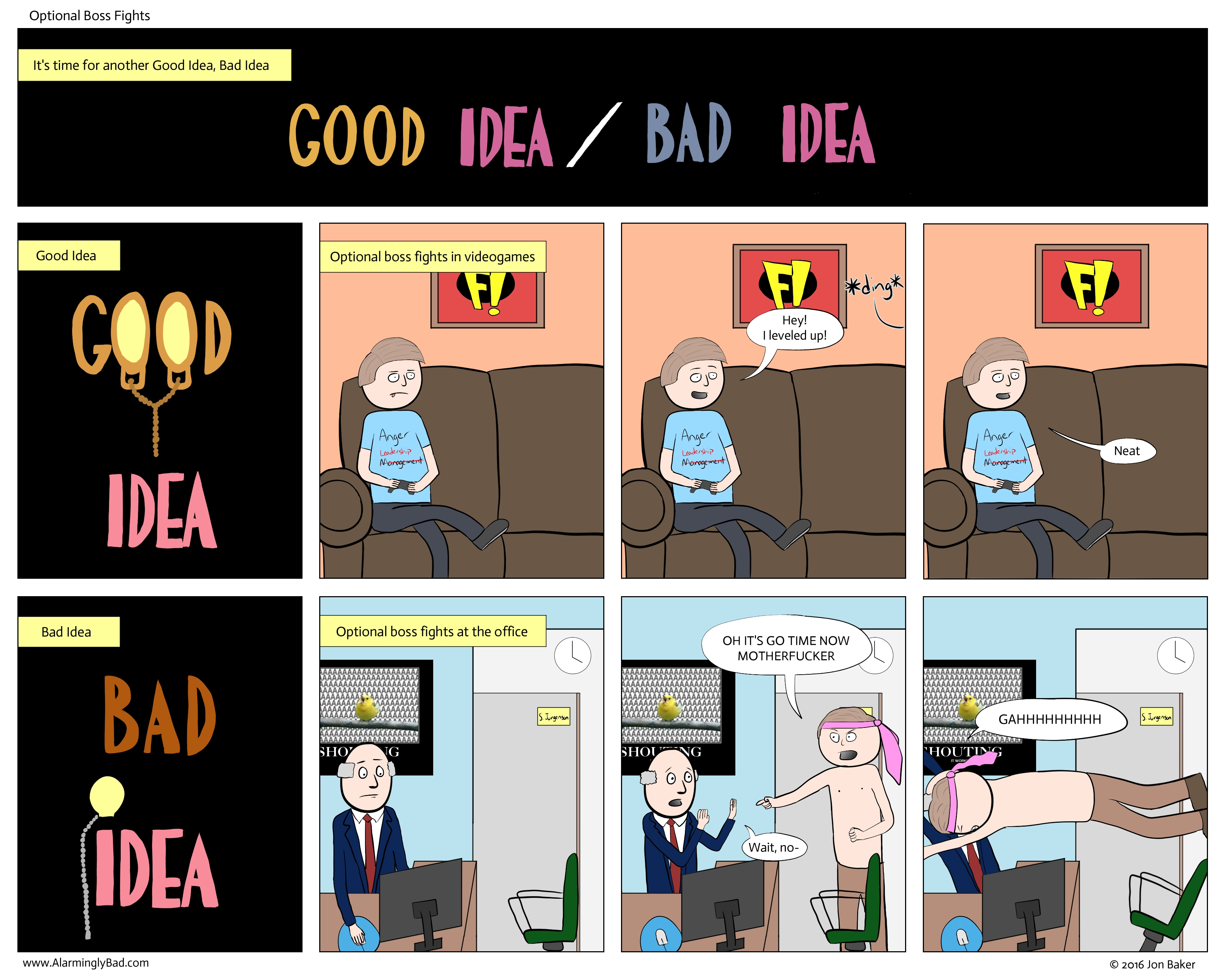 10 Elegant Good Idea Bad Idea Animaniacs optional boss fights alarmingly bad 1
