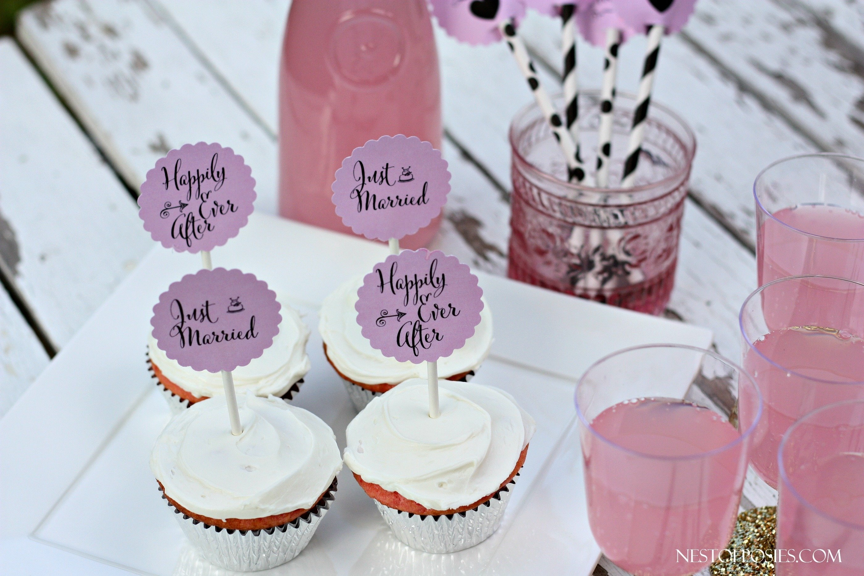 10 Beautiful Cupcake Ideas For Bridal Shower or bridal shower cupcake toppers 1 2020