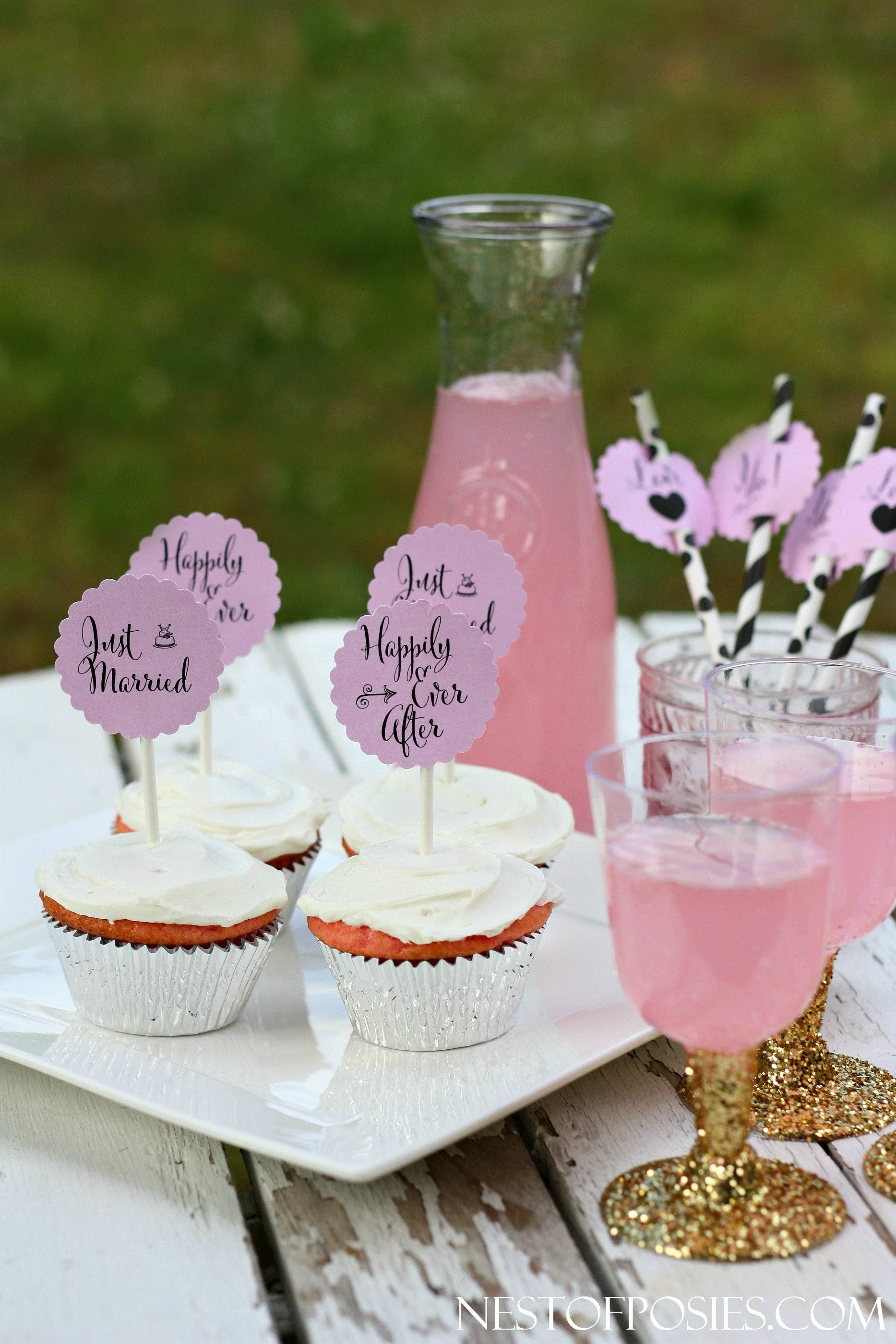 10 Beautiful Cupcake Ideas For Bridal Shower or bridal shower cupcake toppers 2020