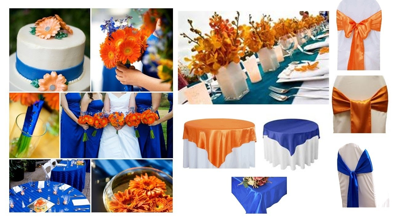 orange and blue wedding decorations gallery - wedding decoration ideas
