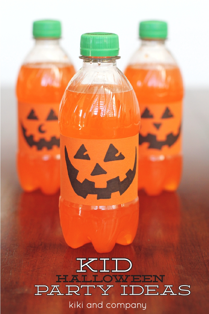 10 amazing halloween drink ideas for kids orange pumpkin drinks halloween idea tutorial kiki company