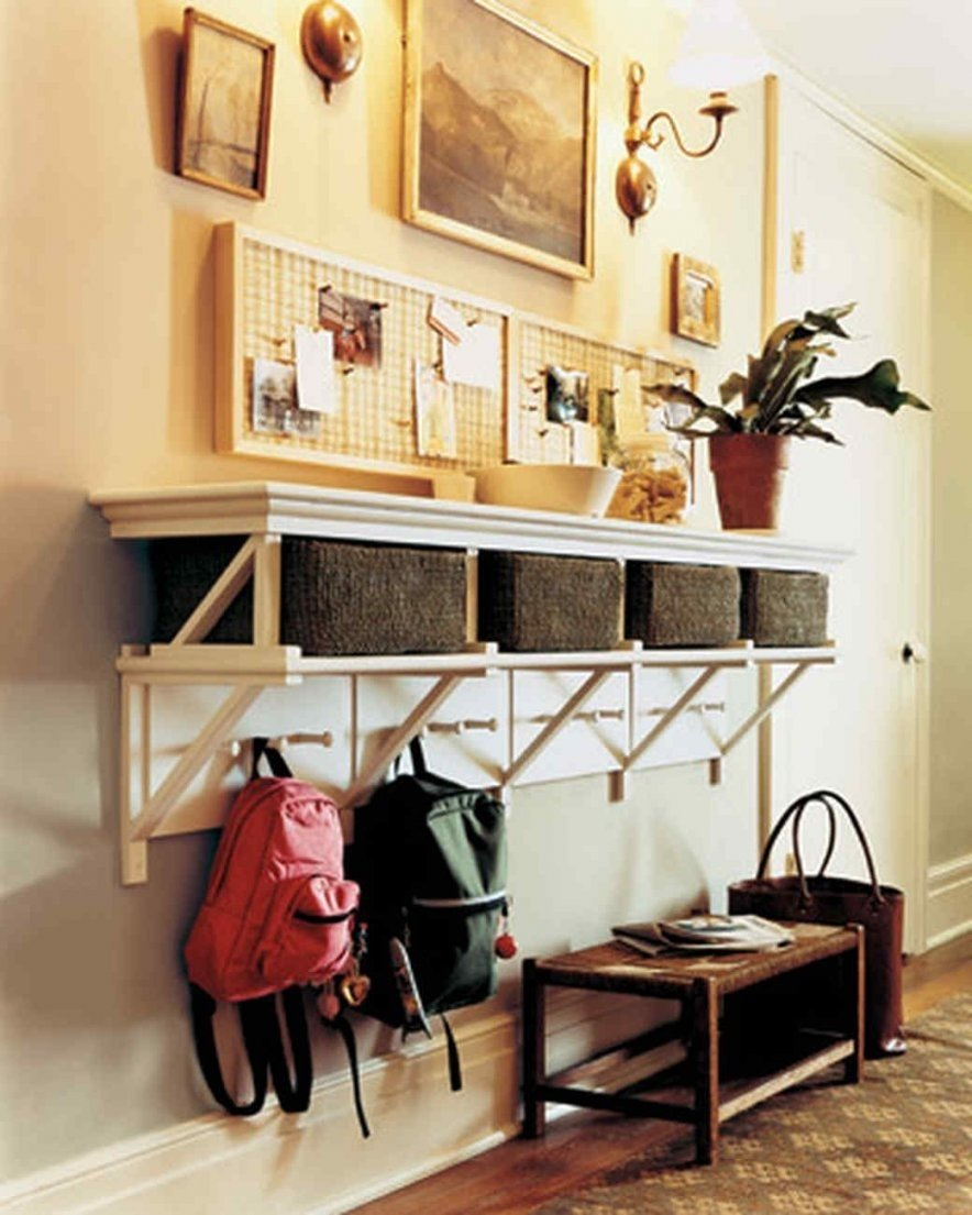 10 Most Popular Entryway Ideas For Small Spaces organizing ideas martha stewart hallway storage ideas for intended 2020