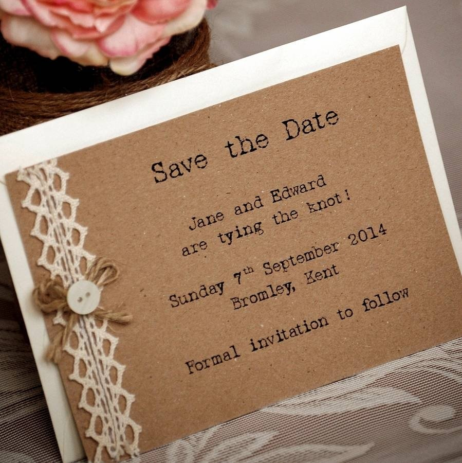 10 Nice Save The Date Invitation Ideas original vintage rustic save the date cards with brown burlap paper 2020