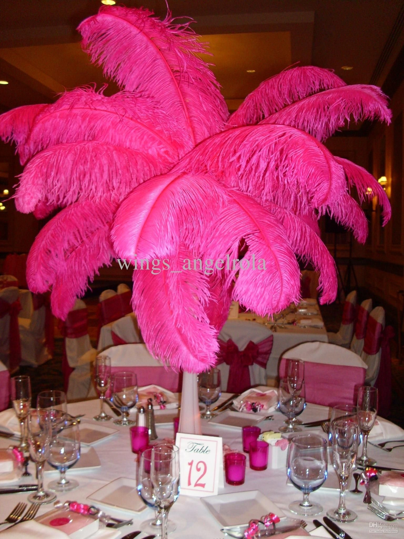 10 Fabulous Pink Party Ideas For Adults ostrich feather 200pcs lot 14 16 wedding party decoration 2021