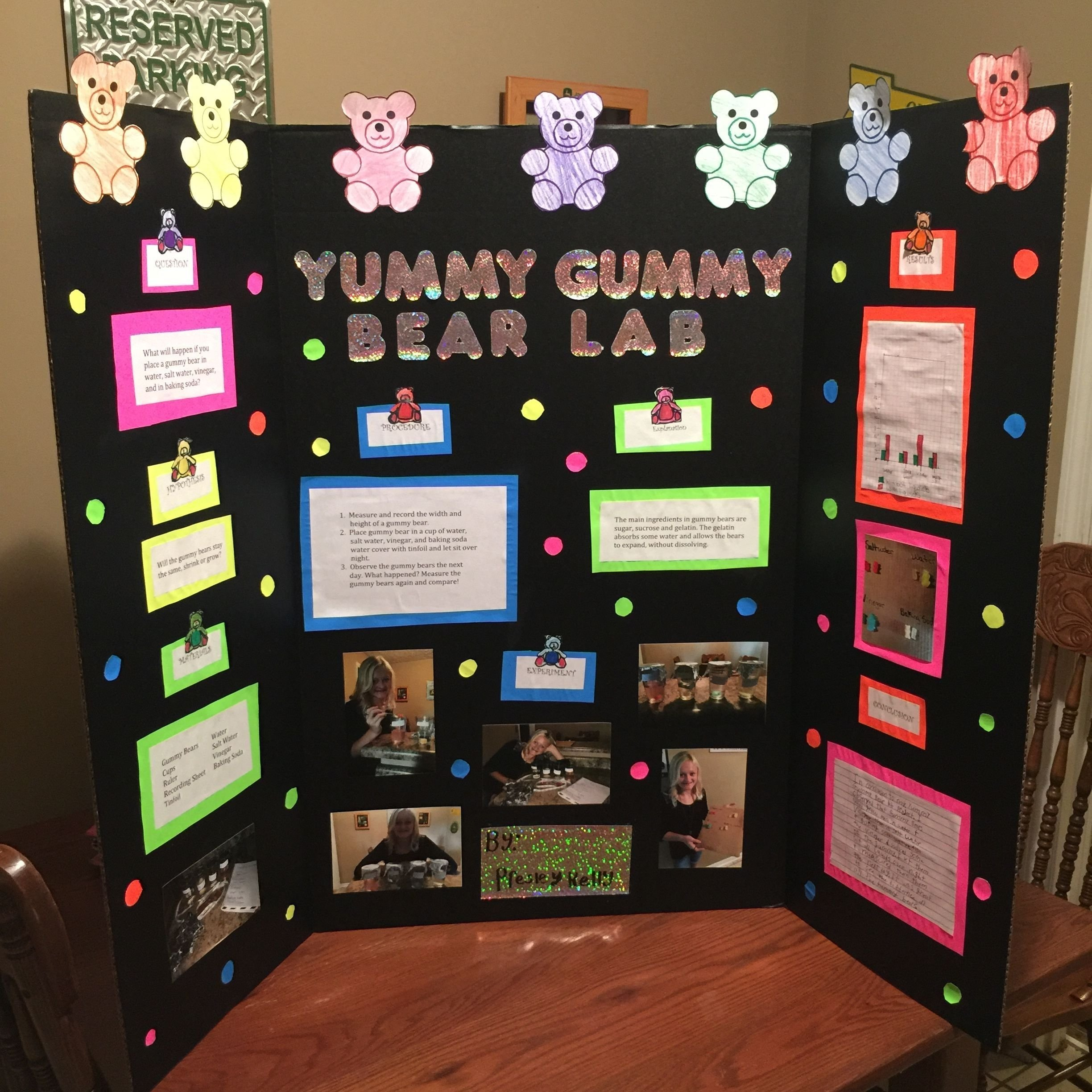 10 Most Popular Ideas For Science Fair Projects For 4Th Graders our 4th grade science fair project yummy gummy bear lab lots of 3 2020