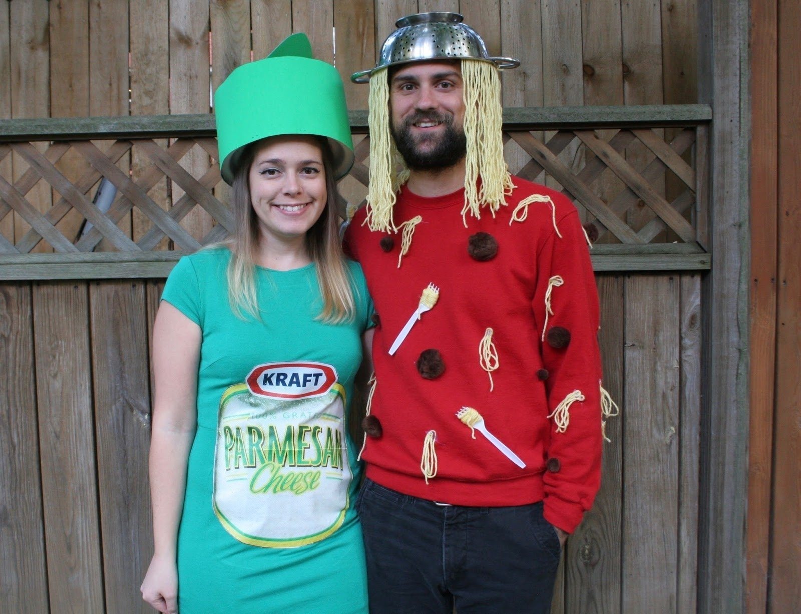 our halloween costumes: spaghetti & parmesan cheese - the surznick
