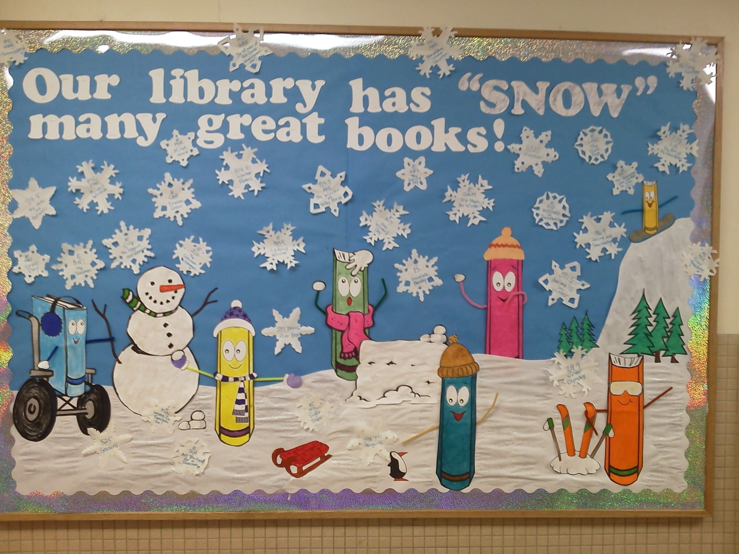 10 Attractive Winter Library Bulletin Board Ideas our library has snow many great books bulletin board for winter 1 2020