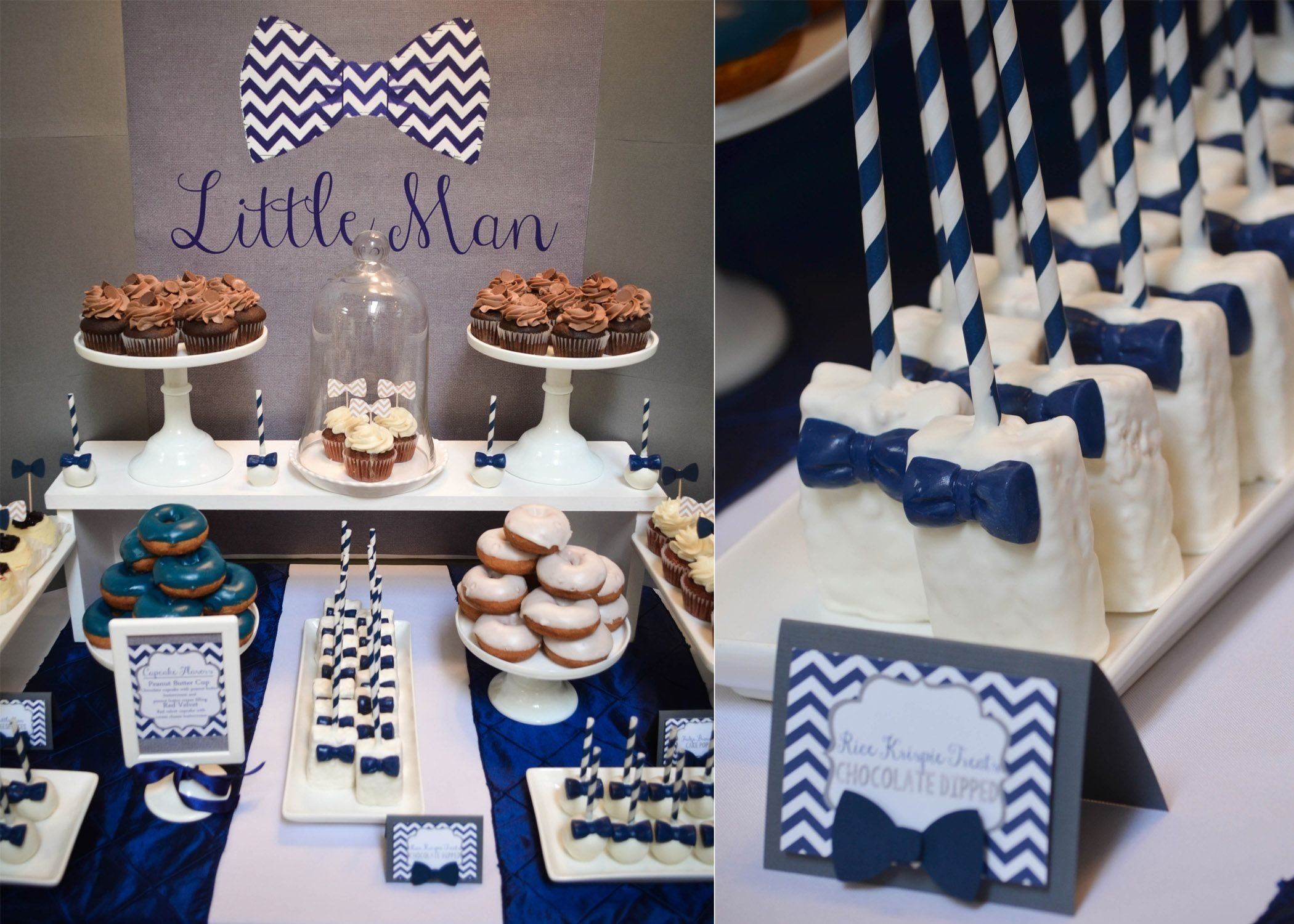 our little man baby shower | www.cwdistinctivedesigns | #bowtie