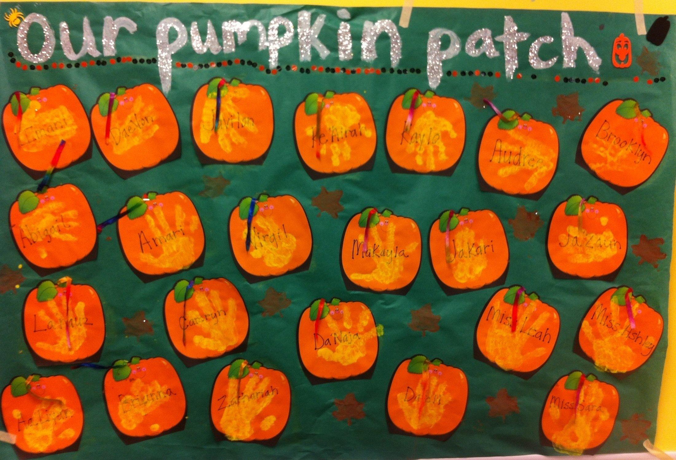 10 Great Pumpkin Patch Bulletin Board Ideas our pumpkin patch halloween bulletin board idea supplyme 2021