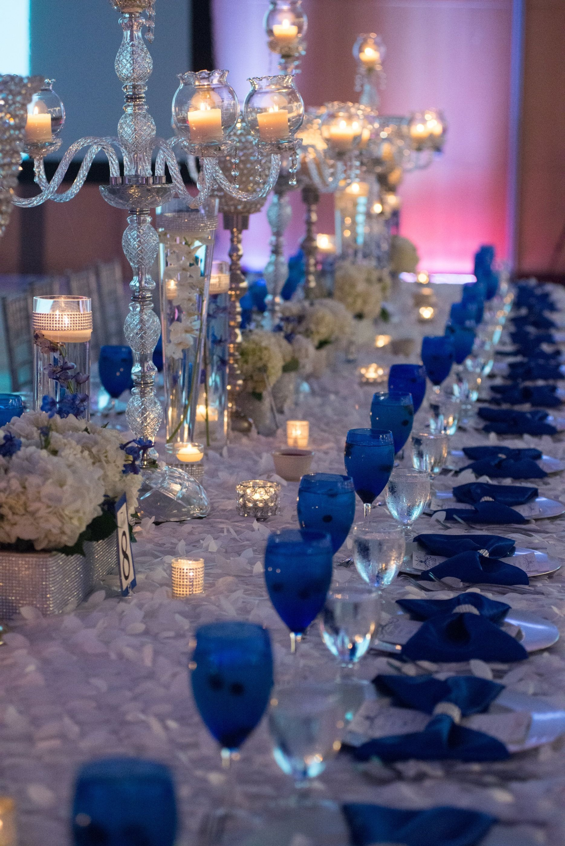 10 Lovable Royal Blue And Silver Wedding Ideas our royal blue wedding family styled seating reception table 1