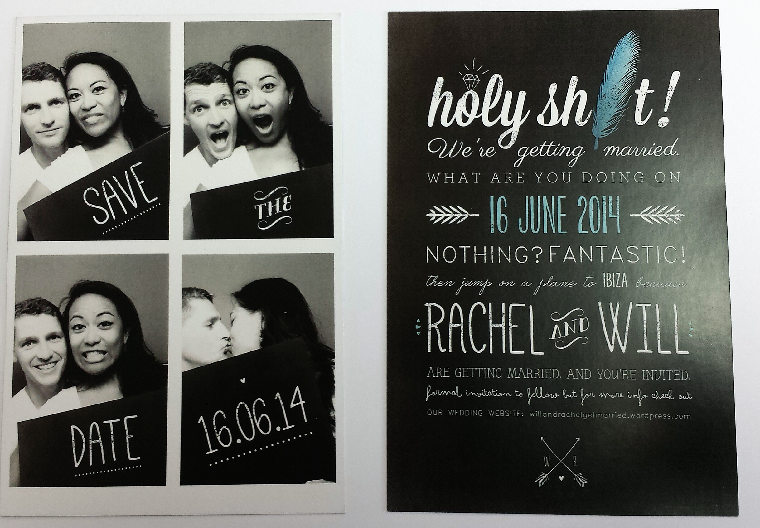 our save the dates plus a diy extra. – bridethe beach
