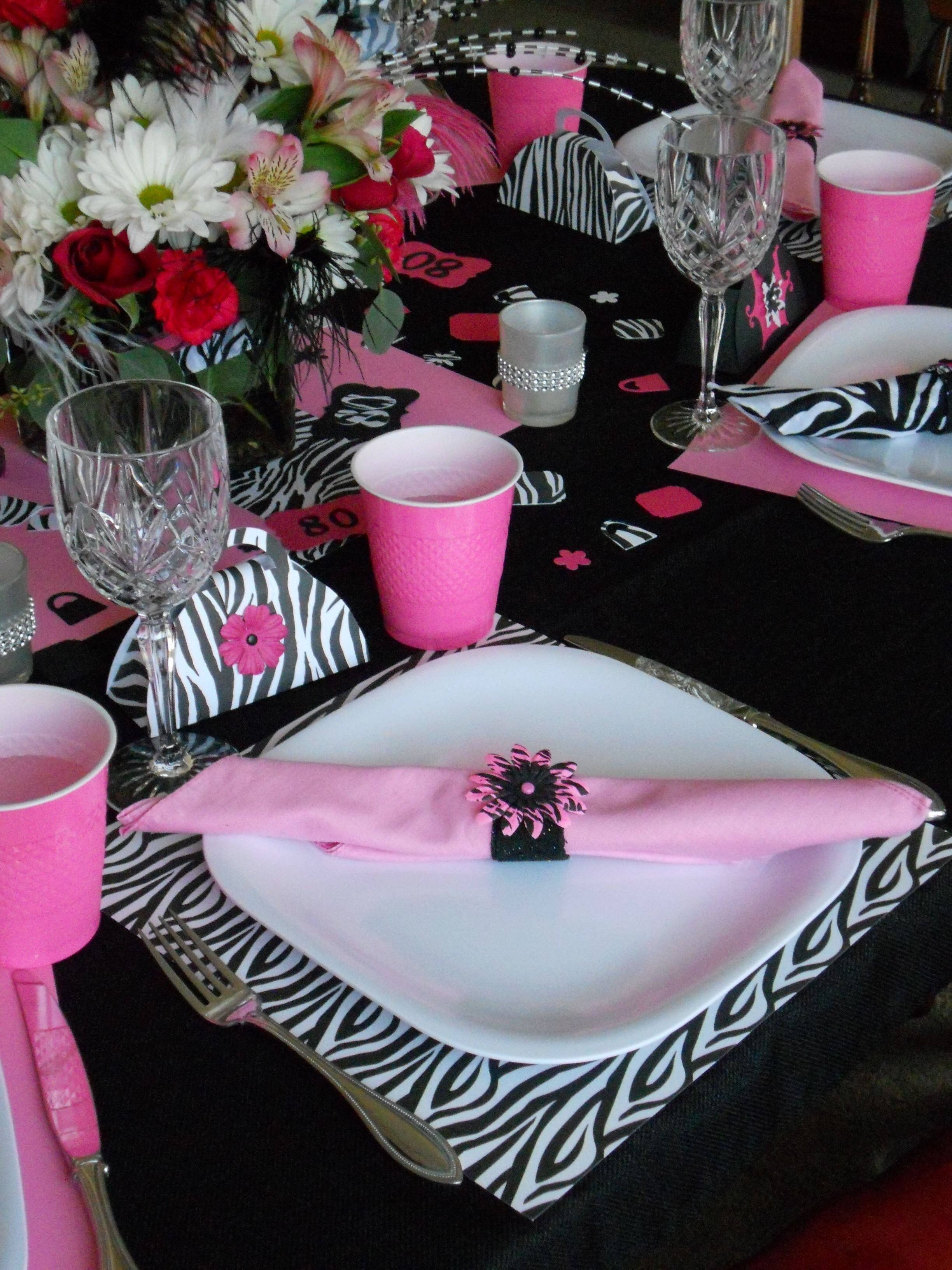 10 Unique 80Th Birthday Party Ideas For Mom our table setting for grandmas fabulous 80th birthday party 2020