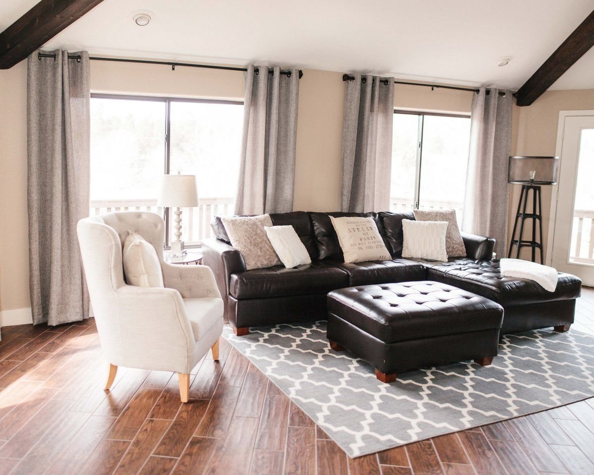 10 Fashionable Black Couch Living Room Ideas our vacation home in flagstaff vacation studio and leather