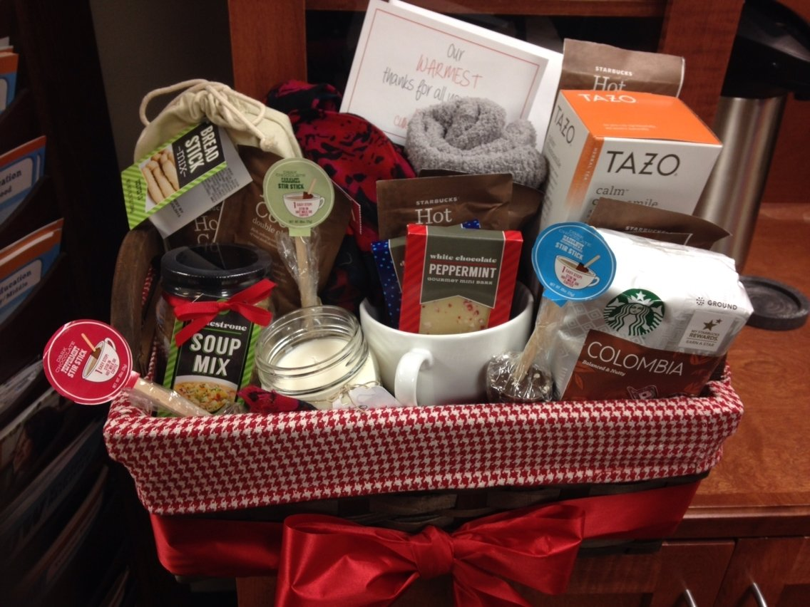 10 Pretty Going Away Gift Ideas For Coworkers our warmest thanks gift basket as a farewell to coworker i did 2021