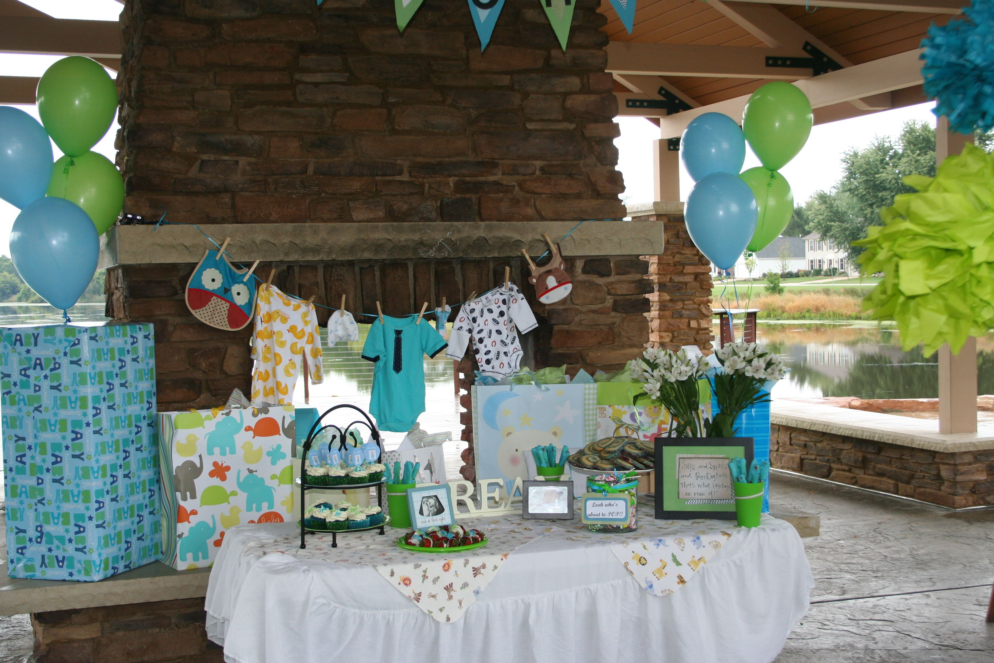 outdoor baby boy shower-table ideas | parties and showers | baby