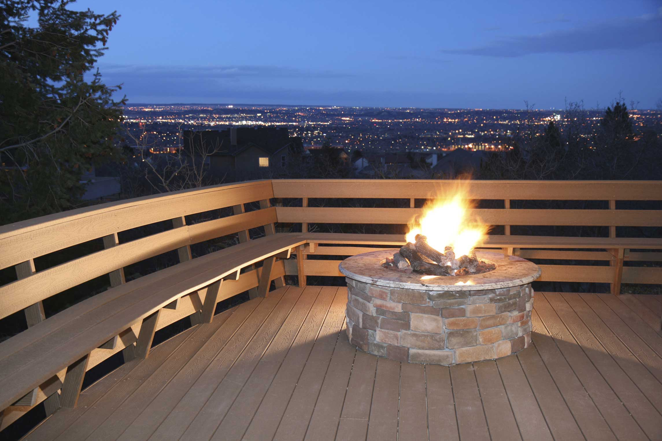 outdoor deck fire pit » design and ideas